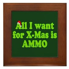 Christmas Ammo Framed Tile