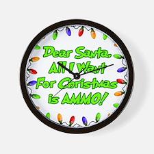 Santa Christmas Ammo Wall Clock