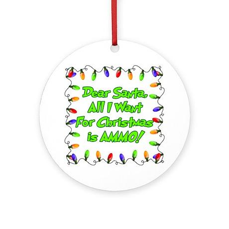 Santa Christmas Ammo Ornament (Round)