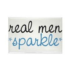 Real Men Sparkle Rectangle Magnet