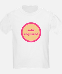 Sabr Required Kids T-Shirt (yellow + pink)