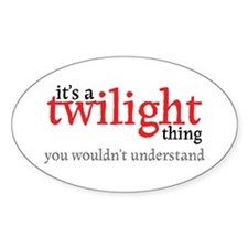 Twilight Thing Oval Sticker (10 pk)