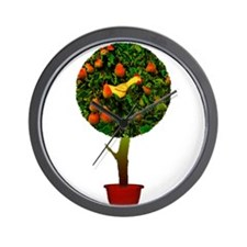 Rubber Chicken In A Pear Tree Wall Clock