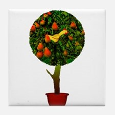 Rubber Chicken In A Pear Tree Tile Coaster