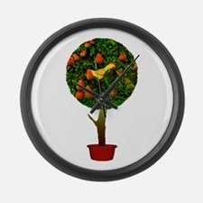 Rubber Chicken In A Pear Tree Large Wall Clock