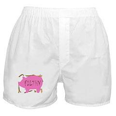 Filthy Pig Pink Boxer Shorts