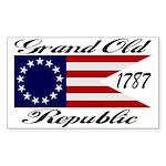 1787 Grand Old Republic Rectangle Sticker