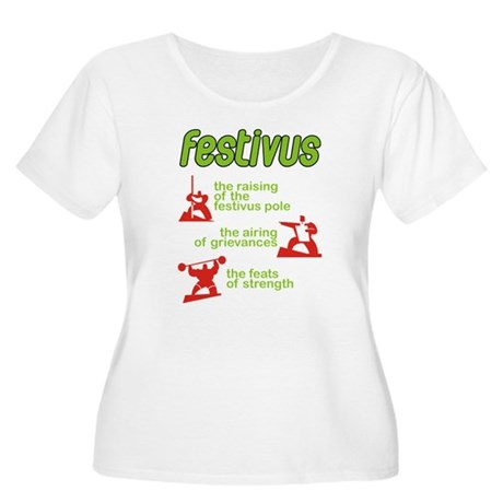 FESTIVUS™! Women's Plus Size Scoop Neck T-Shirt
