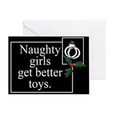 Naughty Girls Greeting Card