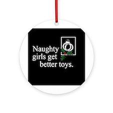 Naughty Girls Ornament (Round)
