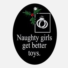 Naughty Girls Ornament (Oval)