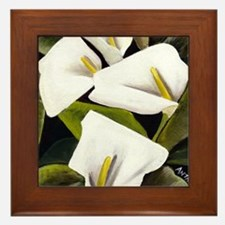 Calla Lily Framed Tile