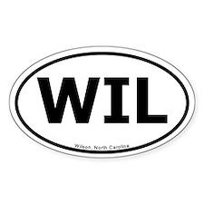 Wilson North Carolina Oval Bumper Decal