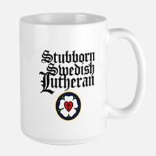 Stubborn Swedish Lutheran Large Mug