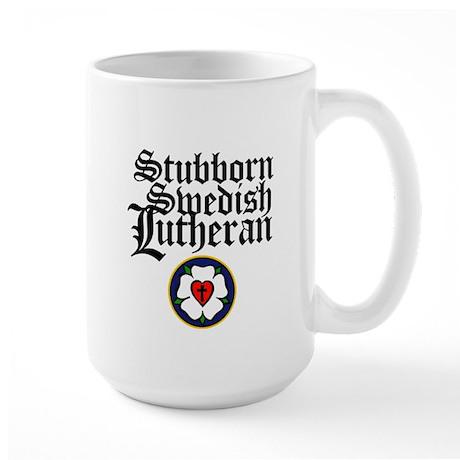 Stubborn Swedish Lutheran Large Mug