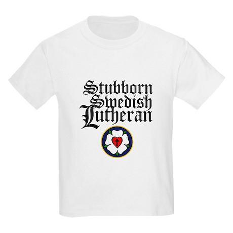 Stubborn Swedish Lutheran Kids Light T-Shirt