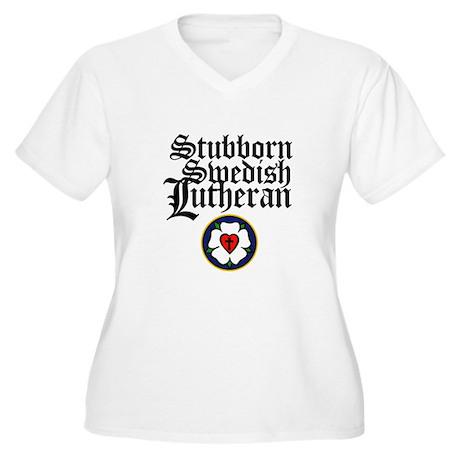 Stubborn Swedish Lutheran Women's Plus Size V-Neck