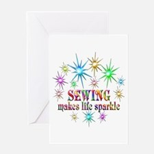 Sewing Sparkles Greeting Card