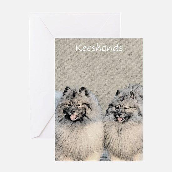 Keeshonds Greeting Card