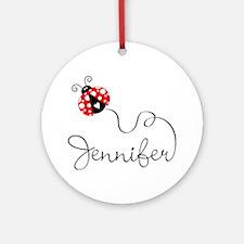 Ladybug Jennifer Ornament (Round)