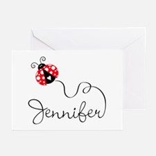Ladybug Jennifer Greeting Cards (Pk of 20)