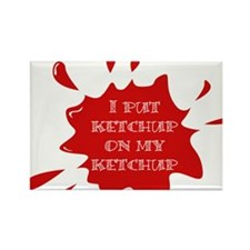 Cute Catsup Rectangle Magnet