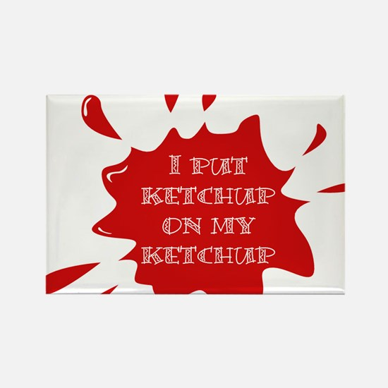 Cute Ketchup Rectangle Magnet