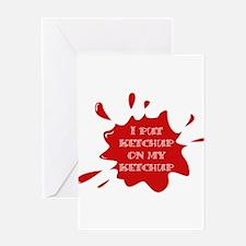 Cute Ketchup Greeting Card
