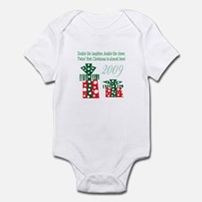 Cute Twins first christmas Infant Bodysuit