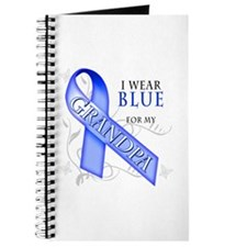 I Wear Blue for my Grandpa Journal