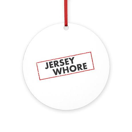 Jersey Whore Ornament (Round)