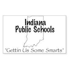 Indiana Schools Sticker (Square)