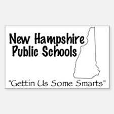New Hampshire Schools Sticker (Square)