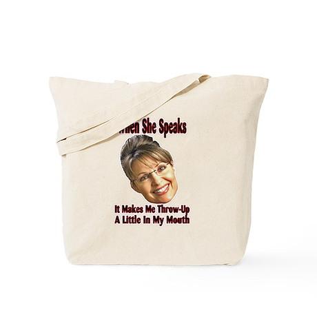 When She Speaks Tote Bag