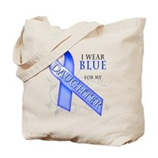 I Wear Blue for my Daughter Tote Bag