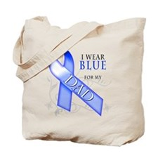 I Wear Blue for my Dad Tote Bag
