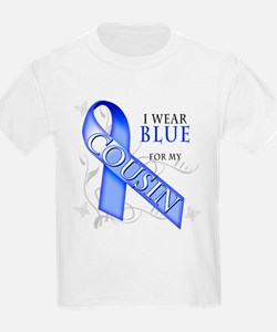 I Wear Blue for my Cousin T-Shirt
