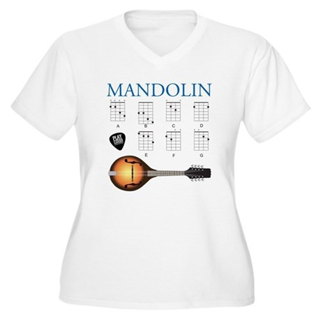 Mandolin 7 Chords Women's Plus Size V-Neck T-Shirt