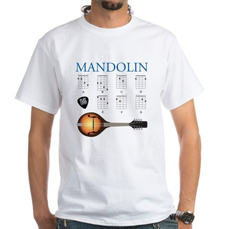 Mandolin 7 Chords White T-Shirt
