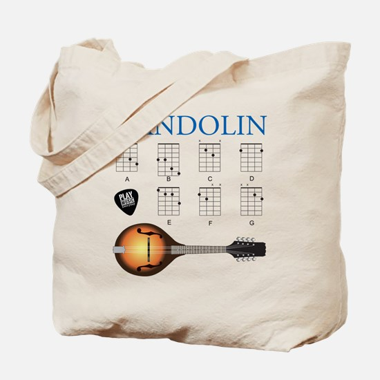 Mandolin 7 Chords Tote Bag