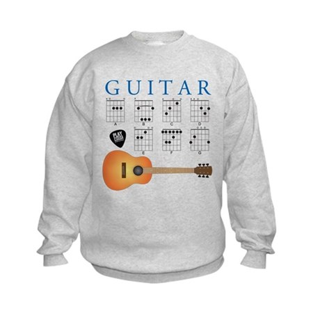 Guitar 7 Chords Kids Sweatshirt