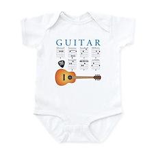 Guitar 7 Chords Infant Bodysuit