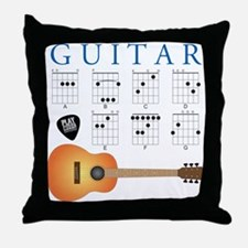 Guitar 7 Chords Throw Pillow