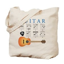 Guitar 7 Chords Tote Bag