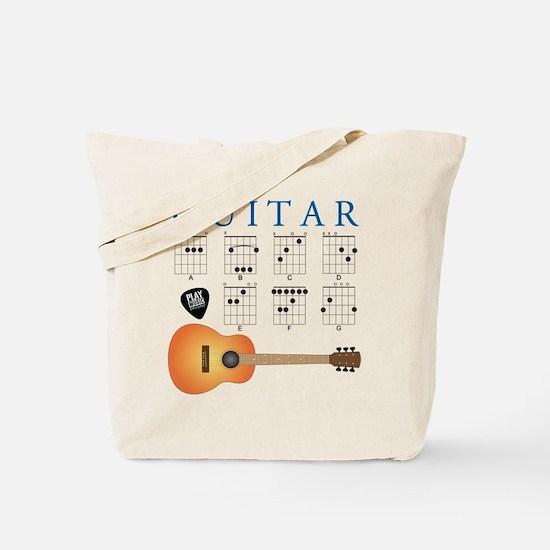 Guitar 7 Chords Tote Bag