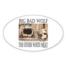 THE OTHER WHITE MEAT Oval Decal
