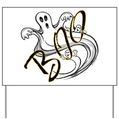 Boo Ghosts Yard Sign