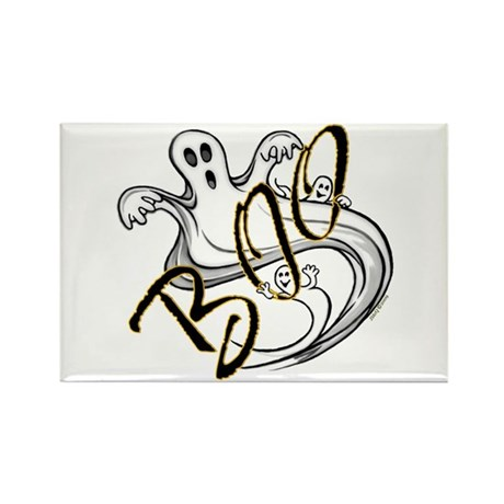 Boo Ghosts Rectangle Magnet (100 pack)