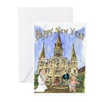 Happy New Year New Orleans Cards (Pk of 10)