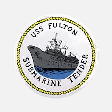 "USS Fulton (AS 11) 3.5"" Button"
